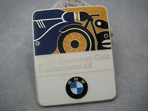 Vintage German Bmw Veteranen Club Deutschland Automobile Car Motorcycle Badge