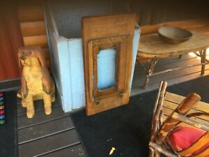 Vintage Davis Treadle Sewing Machine Cabinet Top Oak 34 X 18 X 2