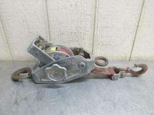 Lug all Belt Strap Lever Hoist Lineman Hot Stick Ratchet Puller 1500