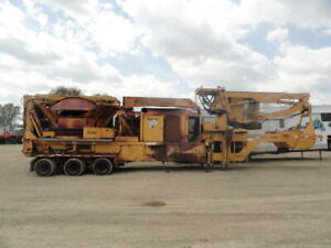 2002 Vermeer Tg525l Tub Grinder With Grapple Loader Fire Damage Needs Repair
