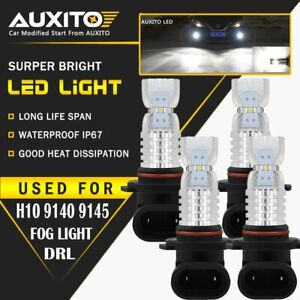 4x H10 9140 9145 High Power Led 6000k Super White Fog Light Bulb 3000lm 2020 smd