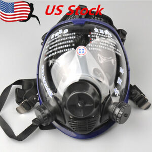 Full Face 6800 Gas Mask Facepiece Respirator Painting Spraying Chemical Mask Us