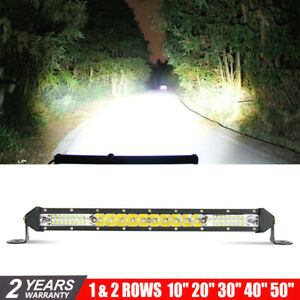10 20 30 Slim Led Light Bar Offroad Barra 4x4 Single Row Led Bar Led Lights