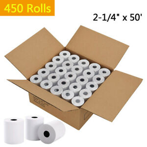 450 Roll 2 1 4 X 50 Thermal Receipt Credit Card Cash Pos Paper Ingenico Ict220
