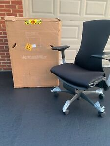 Herman Miller Embody Office Chair Black Balance Fabric open Box