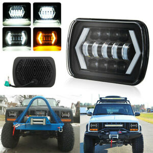500w 7x6 5x7 Led Projector Headlight Hi lo Beam Drl For Jeep Cherokee Xj Truck