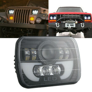 7x6 5x7 300w Led Headlight Halo Drl For 86 95 Jeep Wrangler Yj 84 01 Cherokee Xj
