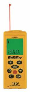 Johnson Level Tool Laser Distance Meter 130 Ft Max Distance 1 16 Accuracy