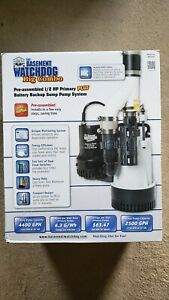Basement Watchdog Bw4000 1 2 Hp Combination Primary And Backup Sump Pump Sytem