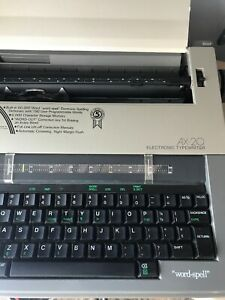 Brother Ax 20 Electronic Typewriter Vintage W keyboard Cover