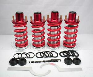 Red Adjustable Coilover Springs Extended Top Hat Kit For 1988 2000 Honda Civic