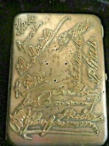 Imperial Russian Cigarette Case Pre 1899 1 2 Lb Of Silver With Gold Monograms