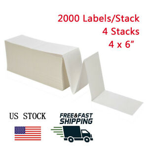 8000 Fanfold 4x6 Direct Thermal Shipping Mailing Labels Zebra 2844 Free Ship