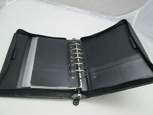 Franklin Covey Full Grain Leather Agenda Planner 7 Ring With Handle