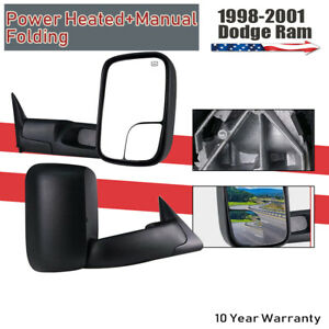 Fit 1998 2001 Dodge Ram 1500 2500 3500 Power heated Tow Mirrors Left right 2x