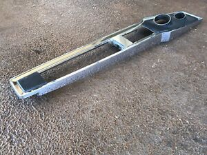 1965 Original Gm Chevrolet Impala Ss At Top Chrome Center Console Plate Nice