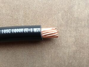 2 Awg Gauge Marine Battery Cable Boat Wire Ul 50ft Black