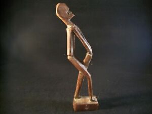 Vintage Tahitian Hand Carved Wooden Man Statue