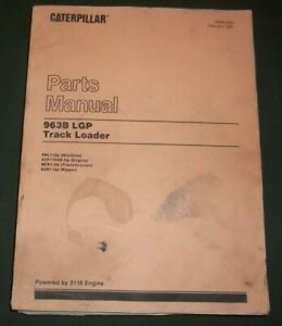 Cat Caterpillar 963b Lgp Track Loader Parts Book Manual S n 9bl00001 up