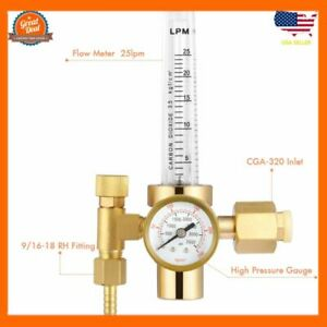 Argon Flowmeter Welding Regulator Gas Values Welding Accessory For Tig Welder