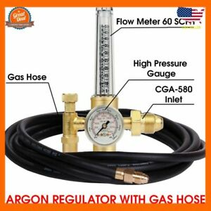 Argon Regulator Tig Mig Welding Co2 Flowmeter 4000 Psi Gas Metering Delivery