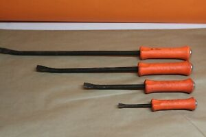 Snap On Pry Bar Full Set Spb24a Spb18a Spb12a Spb8a Set Of 4 Pcs Orange Handle