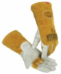Caiman Welding Gloves Tig 13 Xl Pr White gold 1868 6 1 Each