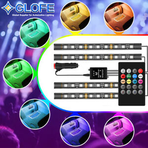 Full Color Glow 36 Led Interior Car Under Dash Footwell Floor Strip Accent Light