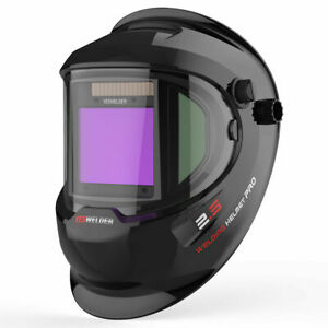 Big View Solar Power True Color Auto Darkening Welding Helmet Weld Cut Grinding