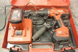 Hilti Sfh 151 a Hammer Drill W 2 Batteries And Charger Case