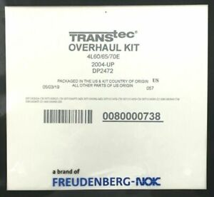 Transtec 4l60e 4l65e overhaul Kit duraprene 2004 up dp2472