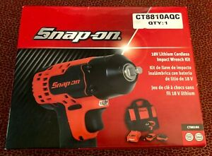New Snap On Lithium Ion 18v Volt Cordless 3 8 Impact Wrench Kit Ct8810a