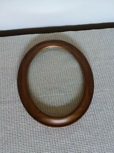 Vintage Oval Solid Wood Picture Frame With Glass