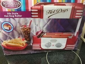 Hot Dog Roller Grill Bun Warmer Nostalgia Electric Food Cooker New Open Box
