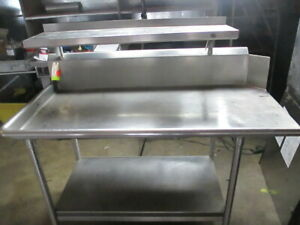 Commercial Stainless Steel Work Prep Table W Overhead Shelf Under Storage