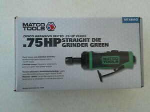New Matco Tools Mt4880g Green 75 Hp Straight Die Grinder