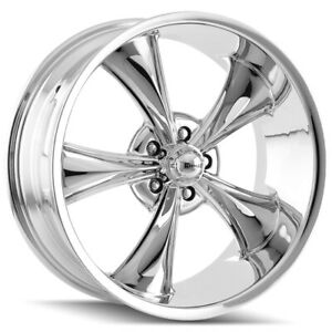 Staggered Ridler 695 Front 22x9 rear 22x10 5 5x127 5x5 0mm Chrome Wheels Rims