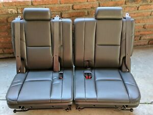 2007 2014 Tahoe suburban yukon 3rd Row Seat Black Leather Perforated Color