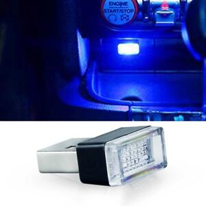 Blue Usb Plug In Small Led Lights Car Extra Dash Floor Atmosphere Lighting Kit