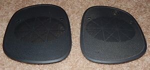 Black 98 S10 Blazer Sonoma Jimmy Bravada Dash Speaker Cover Grills Pair