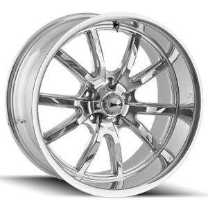 Staggered Ridler 650 Front 18x8 rear 18x9 5 5x127 5x5 0mm Chrome Wheels Rims