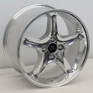 17 Polished Ford Mustang Cobra R Style Wheels 4 17x9 4x4 25 20mm 87 93 Fox