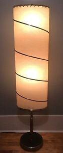 Nice Vtg Retro 50s 60s Mid Century Mod Atomic Majestic Lamp W Unusual Tall Shade