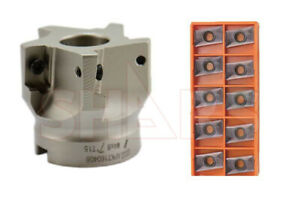 2 90 Indexable Face Mill Cutter 10pcs Apkt 1604 Insert New Save 260 51