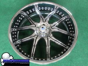 1 Used 26 Asanti Af 150 Chrome Black Wheel Rim 26x10 5x120 Gm Chevy Oldschool