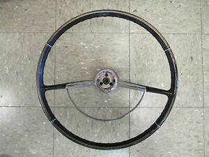 Vintage 1965 66 Corvair Steering Wheel With Chrome Horn Ring p9741752