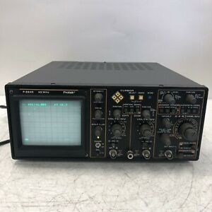 Protek P 2640 Oscilloscope 40mhz Tested And Working No Stand