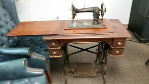 Antique Davis Vertical Feed Treadle Sewing Machine
