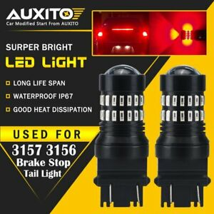 2x Auxito 3157 3057 3156 3457 Led Brake Tail Stop Light Bulb For 2000 2018 Ford