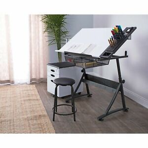 Studio Designs Fusion Craft Center Drafting Table With 24 Tray